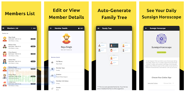 Clansroot Family Tree Maker Event Reminder App